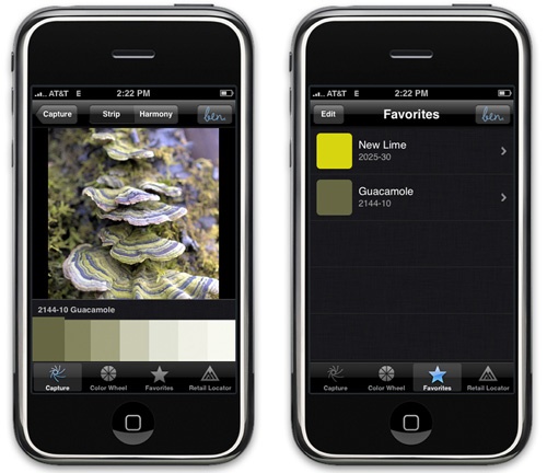 Benjamin Moore Launches iPhone App in technology news events home furnishings  Category