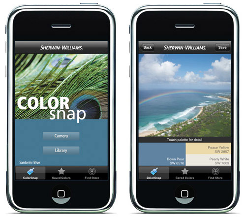 Sherwin Williams iPhone App in technology news events home furnishings  Category