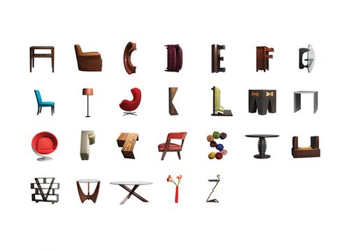 Furniture Alphabet in home furnishings art  Category