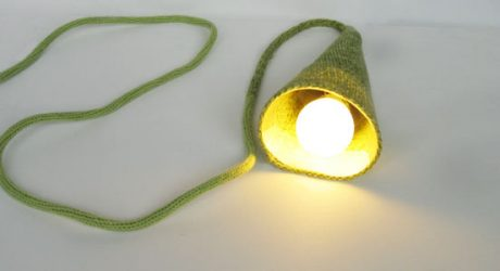 Knitted Torch Lamp