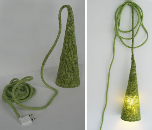 Knitted Torch Lamp in main home furnishings  Category