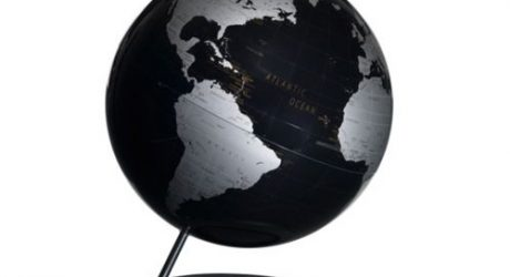 Black Table Globe