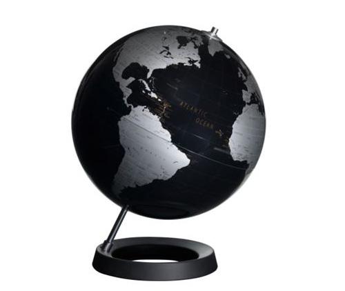 Black Table Globe