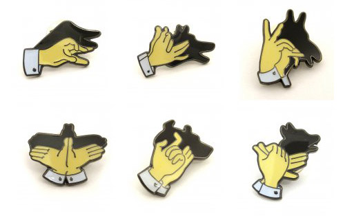 Shadow Puppet Brooches