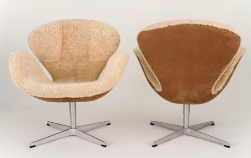 Shearling Swan Chair