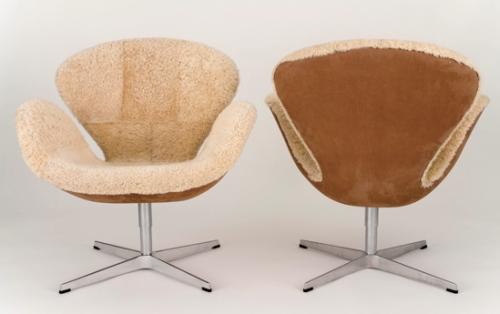 Shearling Swan Chair