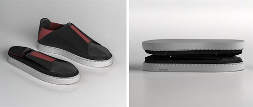 Foldable Shoe Design by Marc Illan in style fashion  Category