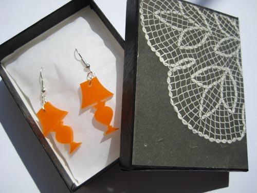 i love lamp earrings from nylon sky