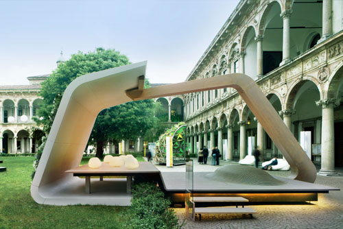 South Face Installation in Milan by Iosa Ghini