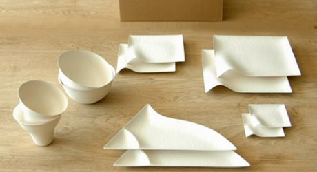 Wasara Tableware Made from Paper