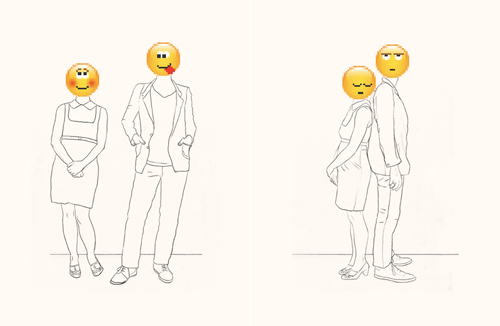 Emoticon Love Story. Darn. Don't you hate that?