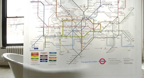 London Underground Shower Curtain