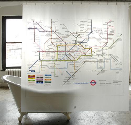 Fabulous London Underground Shower Curtain - Design Milk CI88