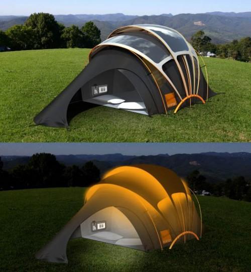 orange concept tent