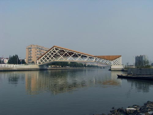 pedestrian bridge by CA design