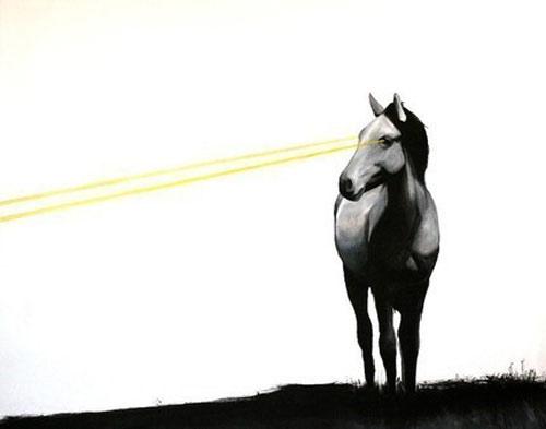 laser-beam-horse