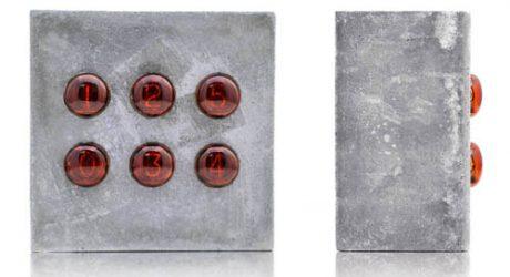 Nixie Concrete Clock