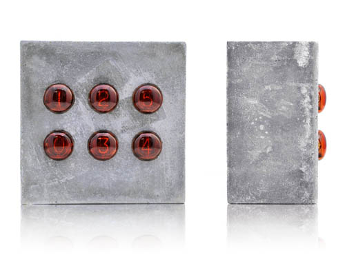 nixie-concrete-clock