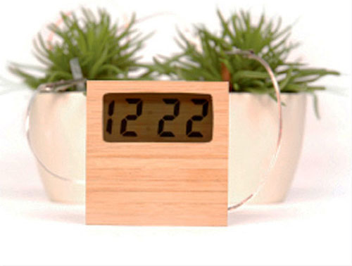 Soil Powered Bamboo Clock