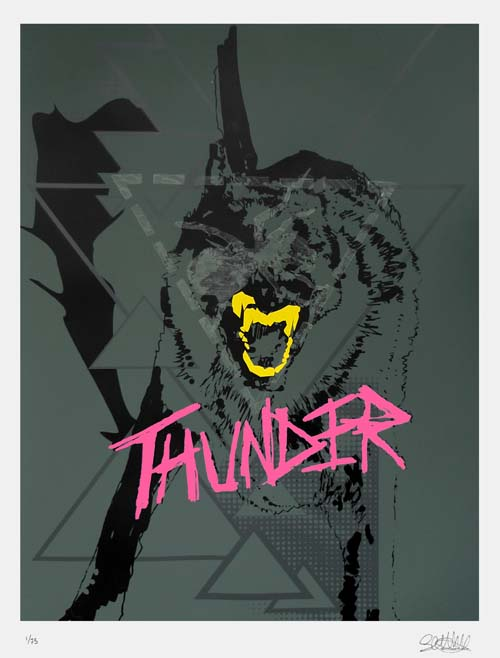 Thunder by Stuart Semple and The Prodigy in art  Category