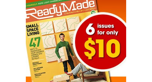 readymade magazine special subscription deal