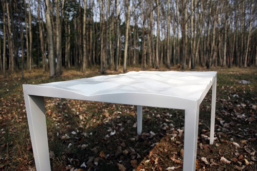 Crumple Table by Milica Balubdzic in main home furnishings  Category