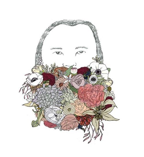 flower-beard-print