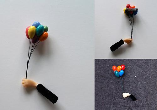 Hairy Socks Jewelry by Ruta Kiskyte