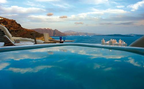 Mystique Hotel in Santorini in main architecture  Category