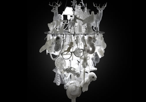White Chandelier by Winnie Lui