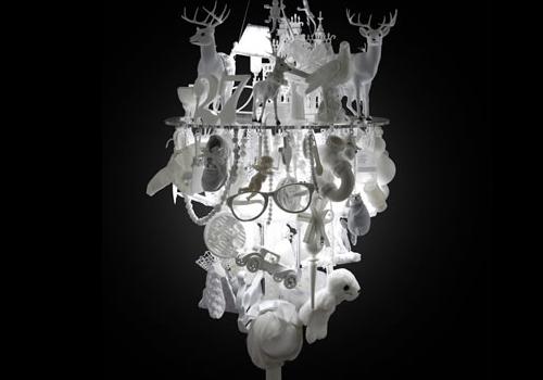 White Chandelier by Winnie Lui