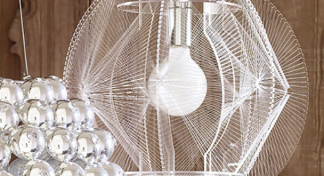 Wire Chandelier by Graham and Green