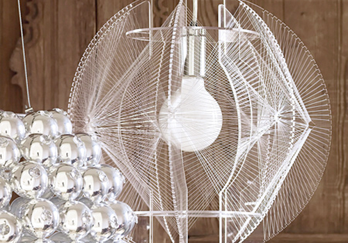 Wire chandelier by graham and green design milk wire chandelier by graham and green aloadofball