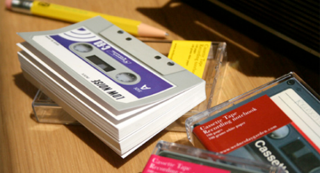 Cassette Tape Notebook by Wednesday Garden