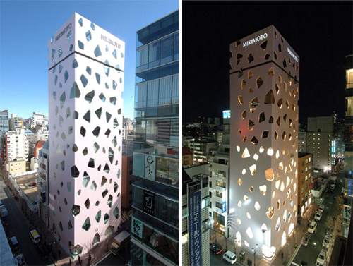 Mikimoto Building in Tokyo by Toyo Ito & Associates in main architecture  Category