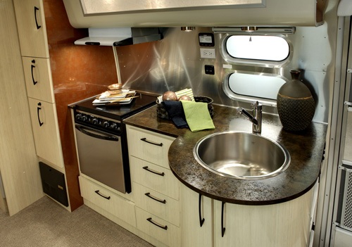 Airstream Victorinox and Serenity Trailers in technology main interior design  Category