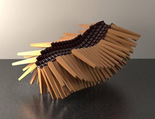 Calibration Lounge and Stool by John Briscella