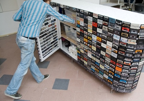 Cassette Tape Closet by Creative Barn