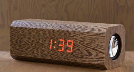 Cassia Wood Alarm Clock
