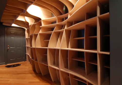 Digitally Fabricated Bookshelf by dbd Studio