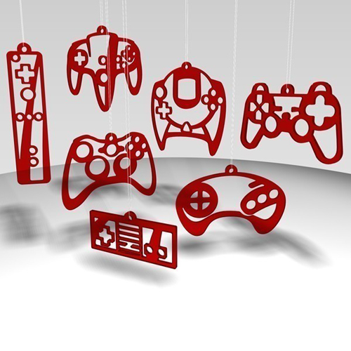 game-controller-ornaments