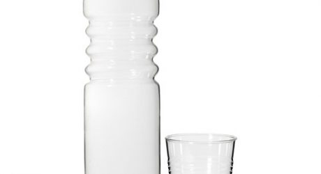 Glass Water Bottle and Cup