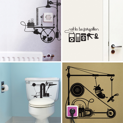 Hu2 Wall Stickers in home furnishings  Category