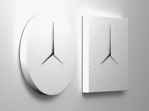 Long D Dual Time Wall Clock in technology main home furnishings  Category