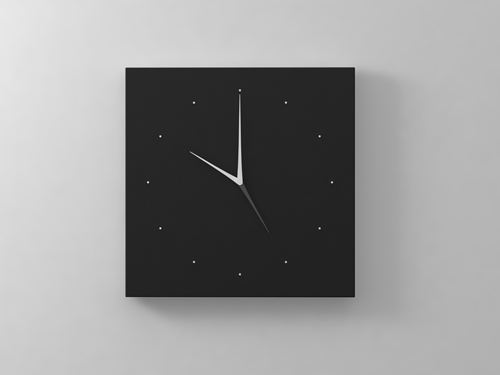 Long D Dual Time Wall Clock in technology home furnishings  Category