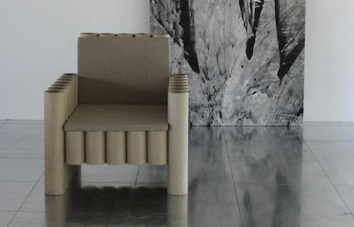 Paper Tube Chair by Manfred Kielnhofer