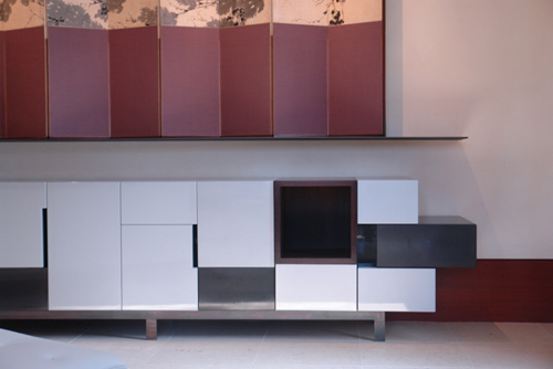 Silver Sparkle Credenza by Thomas Wold and Fringe Studio