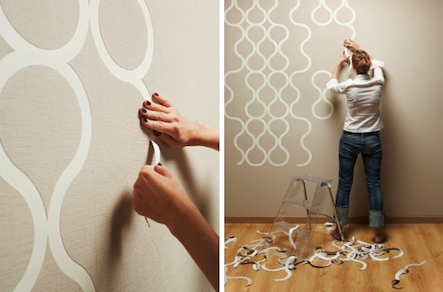 Applying wallpaper to walls has never been so fun.