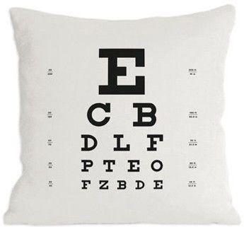 Eye Chart Pillow