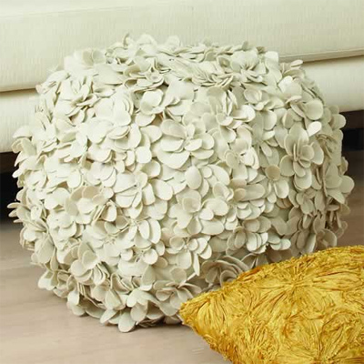 Laser Cut Wool Ottomans in home furnishings  Category